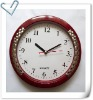 wooden like plastic wall clock, cheap wall clock
