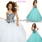 Charming Ball Gown Sweetheart Neckline Embroidered Bodice Scattered Beading Floor Length Tulle Prom Dresses 2013