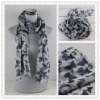 Lady Knit Printed Scarf