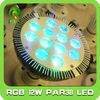 IR remote par38 12*1w RGB spotlight lamp