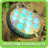 IR remote par38 12*1w RGB spotlight lamp