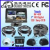 "KT7DF01 7"" Quad Car Rearview System 9V-40V Touch HD Sony CCD also for Truck/Bus/Trailer CCTV"