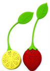 Strawberry&Lemon shaped silicone tea infuser with food-grade certificate
