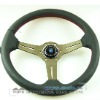 350mm Deep Dish Titanium Color Spoke Nardi Wheel