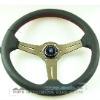 350mm Deep Dish Titanium Color Spoke Nardi Wheel