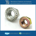 Carbon Steel zinc plated serrated Hex Flange Nut