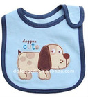 100% cotton printing or embroidery bibs design for baby with PVC