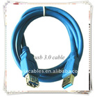 BRAND NEW PREMIUM BLUE USB 3.0 CABLE EXTENSION CABLE AM TO AF USB CABLE