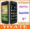 11Nice 4 inch (960x540) QHD Screen MTK6577 dual core Android 4.0 3G mobile cell phone dual sim card WiFi Hotspot GPS BT FM etc.