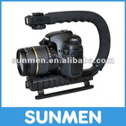 Flash Bracket Stabilizing Grip for DV Camcorders Camera Canon Nikon Sony