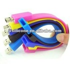 Fashionalble silicone custom rubber usb flash drive
