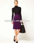 Side Peplum Pencil Skirt,office skirts designs