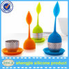 Hotsale Leaf shape Stainless Steel Silicone teapot infuser