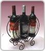 3 bottle metal wine rack