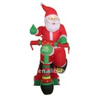inflatable electric santa claus