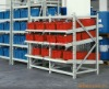 JS Medium duty storage rack, Sliding skate rail roller conveyor rack