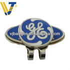 hard enamel golf clip with ball marker