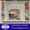 white marble carving fireplace