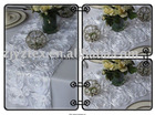 Satin Ribbon Rosette Wedding Table Runner