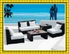 2012 factory hot sale morden design outdoor poly rattan furniture wicker garden sofa patio sunbed SCSF-106