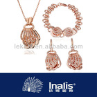 Fashion 18k gold plated african jewelry set LKN18KRGPS074