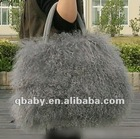 fashion lady mongulia lamb fur bag/luxury sheep fur bag