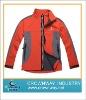 Orange man's softshell jacket
