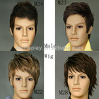 Guangzhou Male sythetic fiber wigs for head display