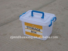 7L Plastic Storage Box with Handle and Wheels