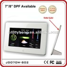 7 inch Super Slim Digital Photo frame with weather station function