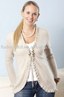 Ladies 100% cashmere cardigan knitted sweater