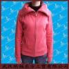 Fashion women's full zipper polar fleece sweater