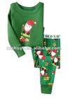 boys sleepwear/pajamas- Santa Skateboard pattern