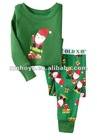 boys sleepwear/pajamas- Santa Skateboard pattern