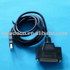 USB To Parallel Converter 25pin female plug Printer Cable Adapter Converter