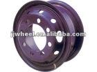 8.25*22.5 steel wheel rim with paint purple