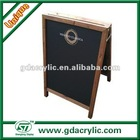 Wooden chalkboard with stand