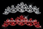 CR004 discount silver | red wedding tiaras and headbands