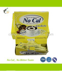 FDA certified no calorie OEM Natural Box packed Sucralose Sweetener Sachet for coffee/bakery/cooking/beverage