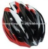 Bicycle helmet cycling helmet in red, black and white