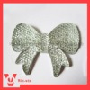 bowtie resin beads with rhinestones in crystal color