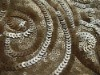 2012 most fashion two tones sequin embroidery works on mesh