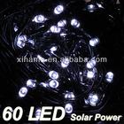 60 LED Solar Power White String Fairy Light Lamp Outdoor Xmas Wedding Party Light