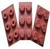 Rose shape silicone cake mold