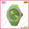 2012 new silicone wrist watches for women with diamond