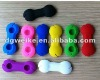 2012 durable & colorful silicone dog bone earphone cable holder