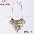 Unique Fashion Wedding Bride Gold Plated Copper Party Necklaces With Crystal CZ Rhinestones Jewelry - PYNK7149