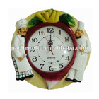OEM/ODM competitive price creative design resin decorative wall clock wholesale