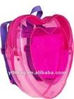 Peach heart mini backpack