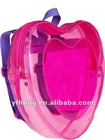 Peach heart mini backpack